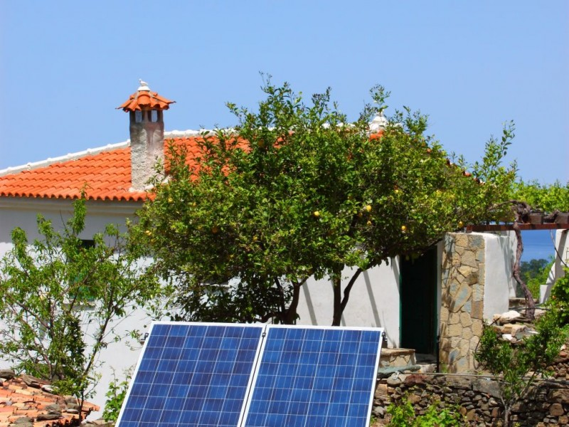Standalone system in farmhouse in Manolates Samos